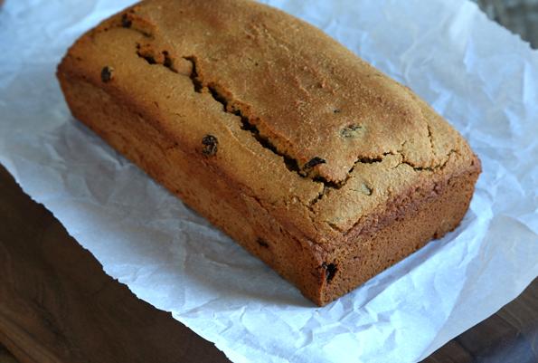 Chocolate Glazed Cherry Almond Paleo Quick Bread