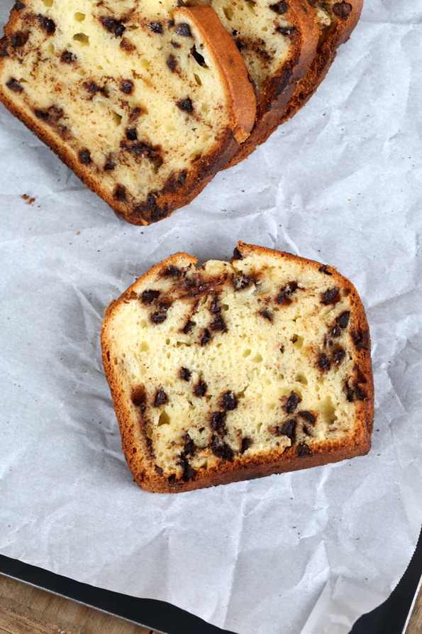 Gluten Free Chocolate Chip Yogurt Quick Bread