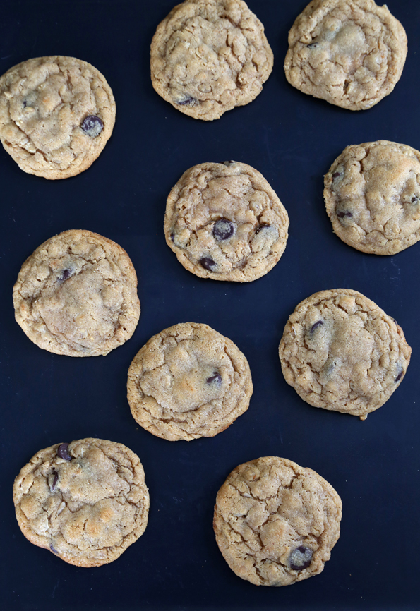 Gluten Free Soft Batch Peanut Butter Oatmeal Chocolate Chip Cookies