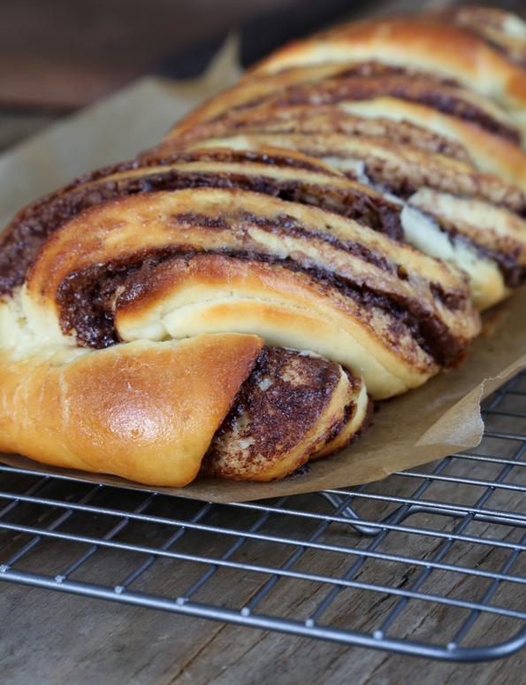 Gluten Free Bread: Braided Nutella Bread