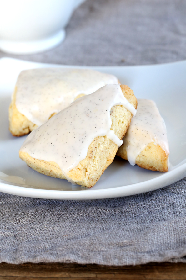 Starbucks-Style Gluten Free Petite Vanilla Bean Scones