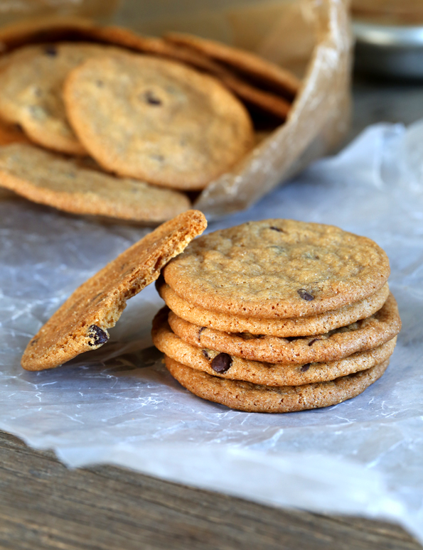 Gluten Free Chocolate Chip Cookie Chips - Can you tell just how thin and chip-like they are?