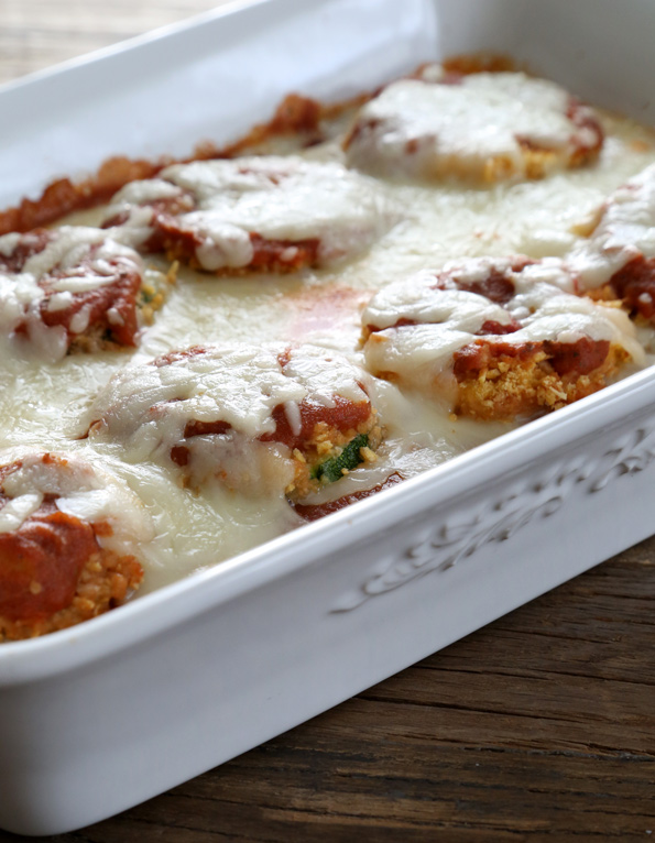 Gluten Free Zucchini Parmesan