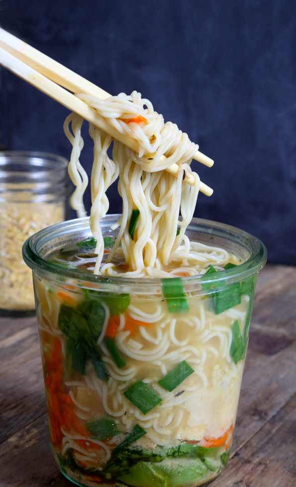 """Gluten Free """"Instant"""" Noodle Cups"""