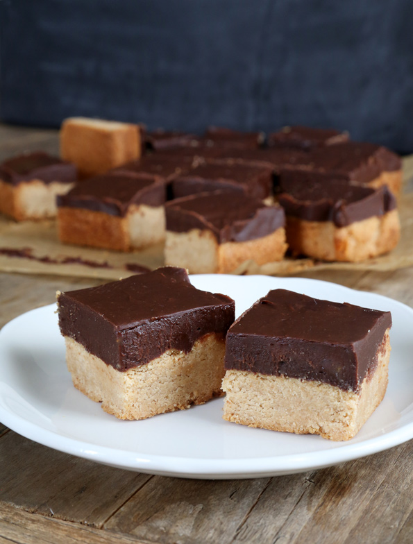 Peanut Butter Chocolate Gluten Free Shortbread Bars - Gluten Free on a ...