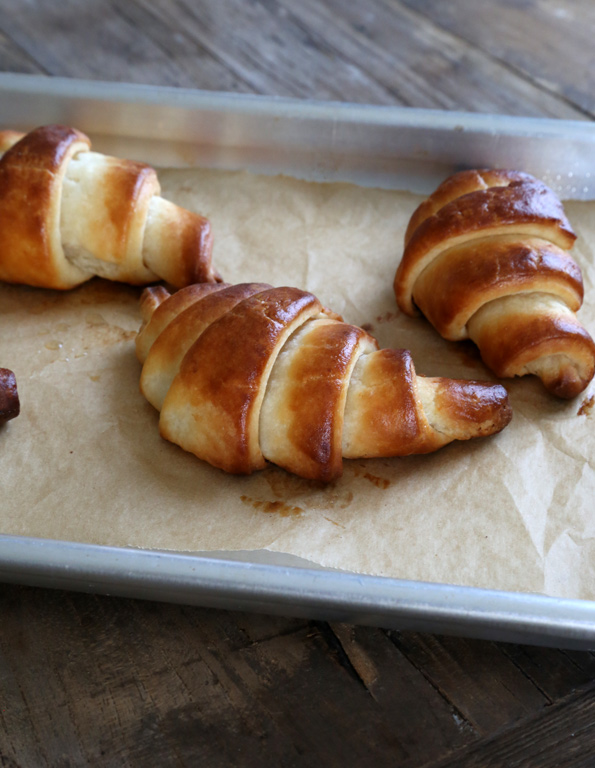 If you've ever wondered whether you could really make truly light and flaky gluten free croissants at home, this is the recipe and these are the step by step photos that will convince you forever. Yes you can!