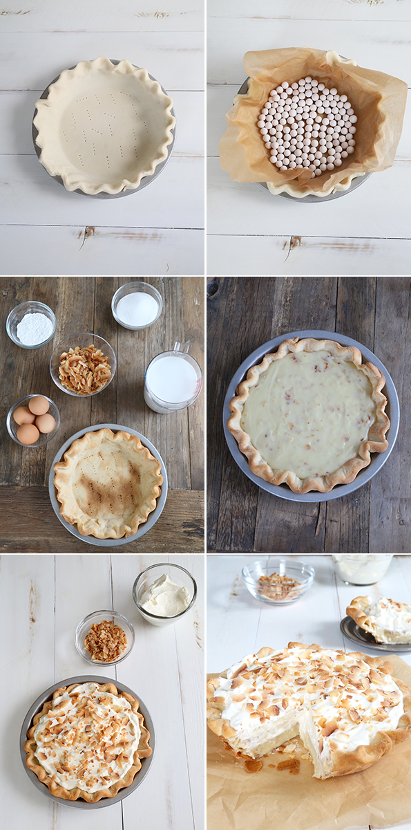 Gluten Free Coconut Cream Pie Step by Step