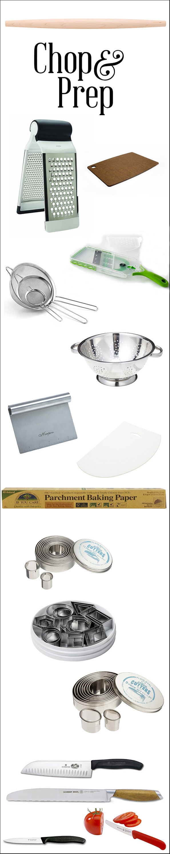 Essential Cooking and Baking Equipment: Chop & Prep