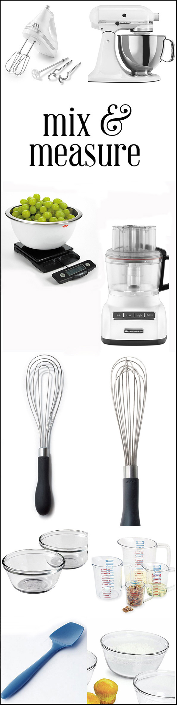 Essential Cooking and Baking Equipment: Mix & Measure
