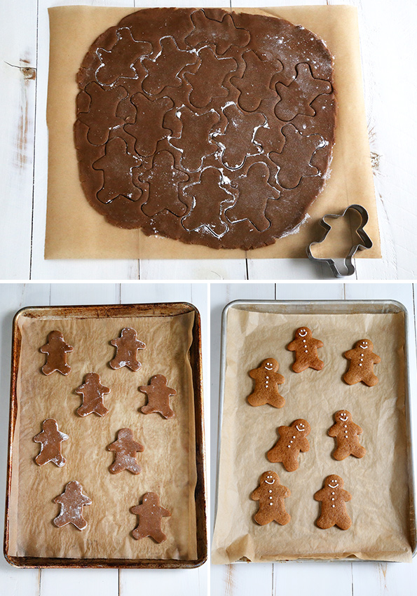 Soft and Chewy Gluten Free Gingerbread Men Cookies - Step by Step