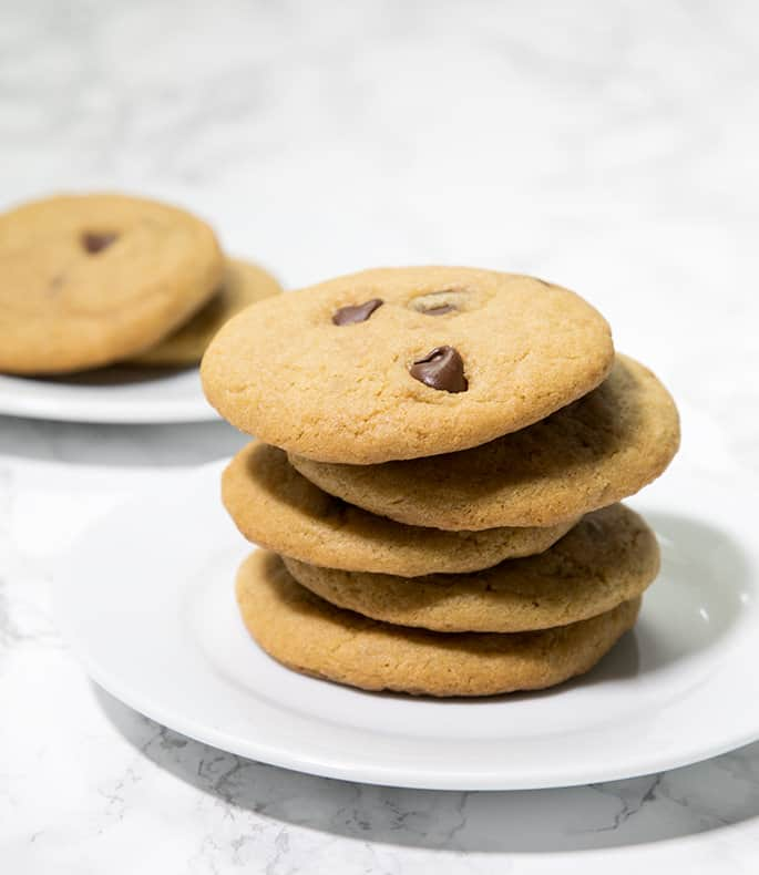 Thin and Chewy Gluten Free Chocolate Chip Cookies