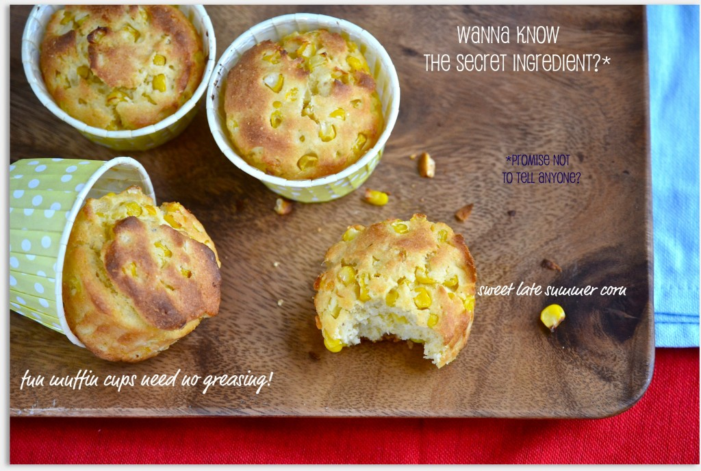 Gluten Free Corn Muffins with real corn kernels
