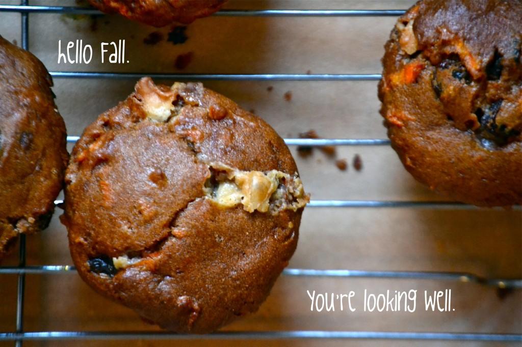 Gluten Free Pumpkin Carrot Cupcake Muffins