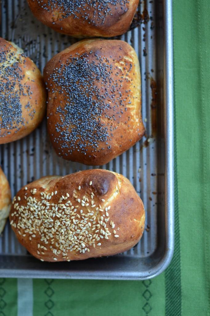 Cornmeal Sandwich Rolls