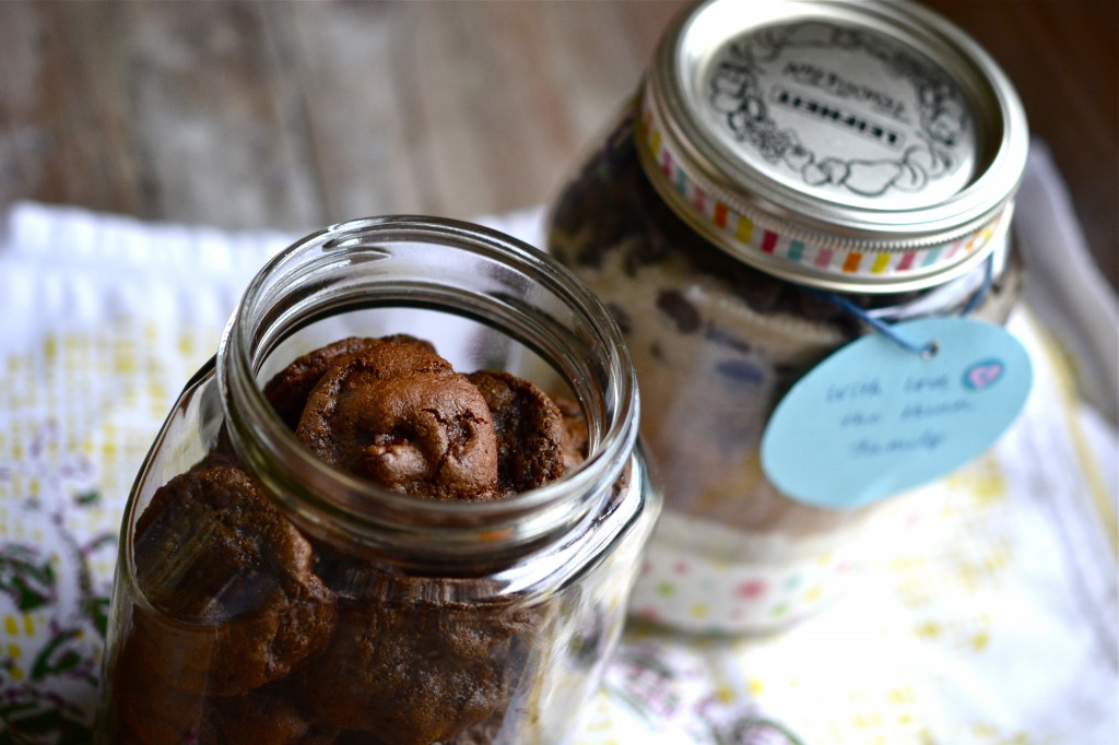Gluten Free Chocolate Chocolate Chip Cookies in a Jar