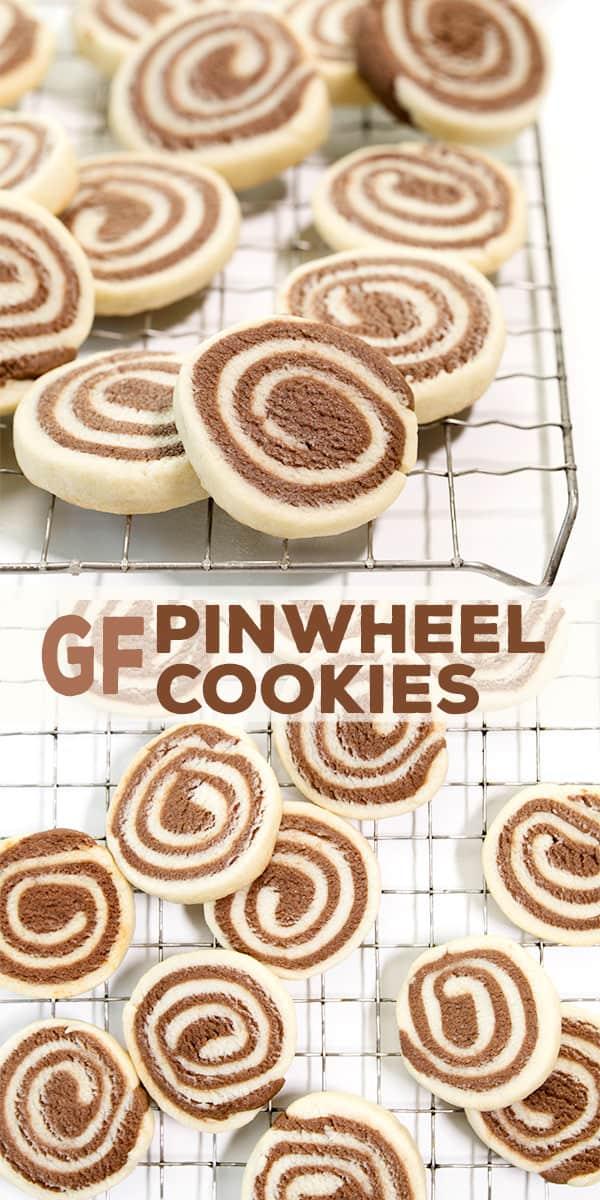 Birds eye angle of pinwheel cookies