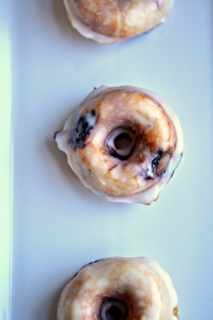 Gluten Free Maple Blueberry Donuts with Lemon Glaze