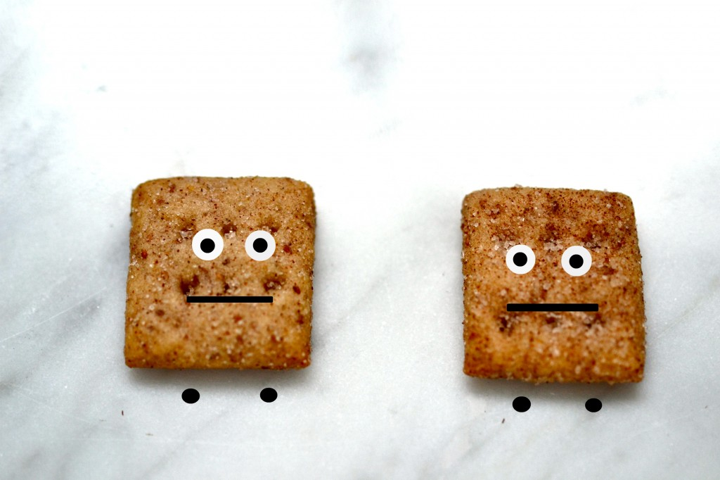 Copycat cinnamon toast crunch cereal on marble surface