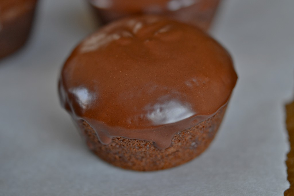 Gluten Free Chocolate Topped Gingerbread Cupcakes with Marshmallow Creme Filling