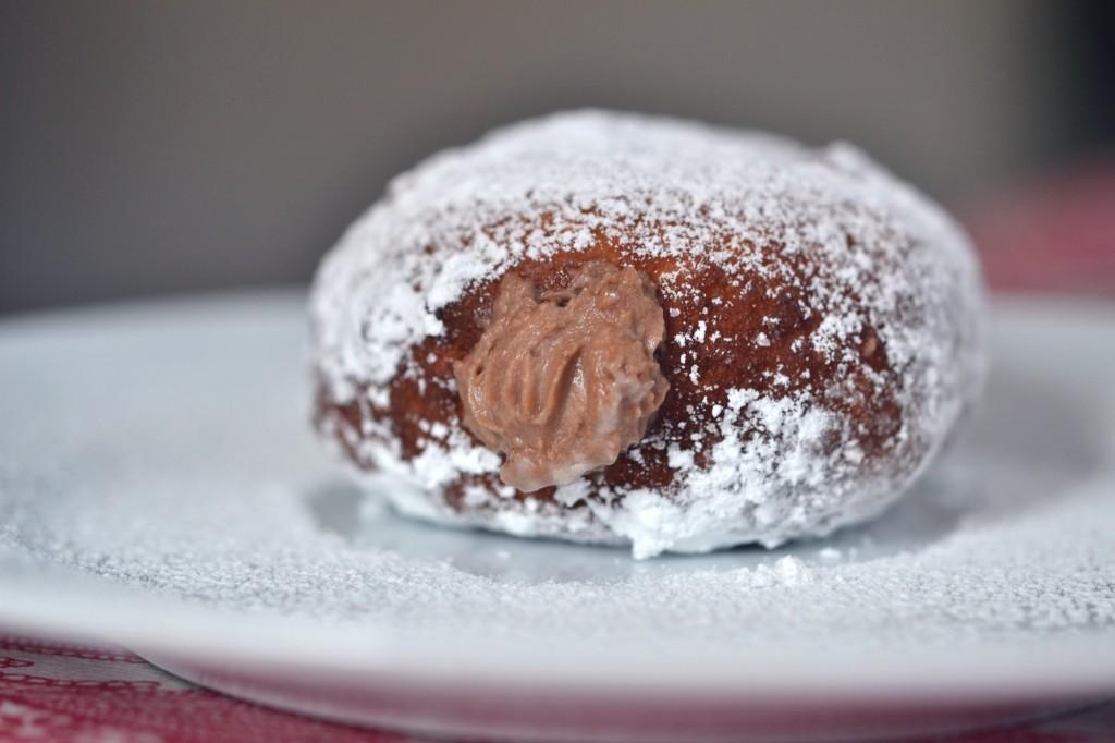 Chocolate Cream-Filled Yeast-Raised Doughnuts