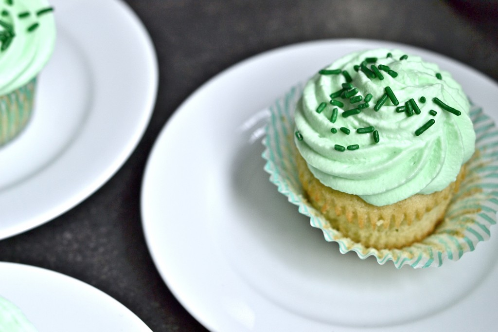 Gluten Free Shamrock Shake Cupcakes for St. Patrick's Day