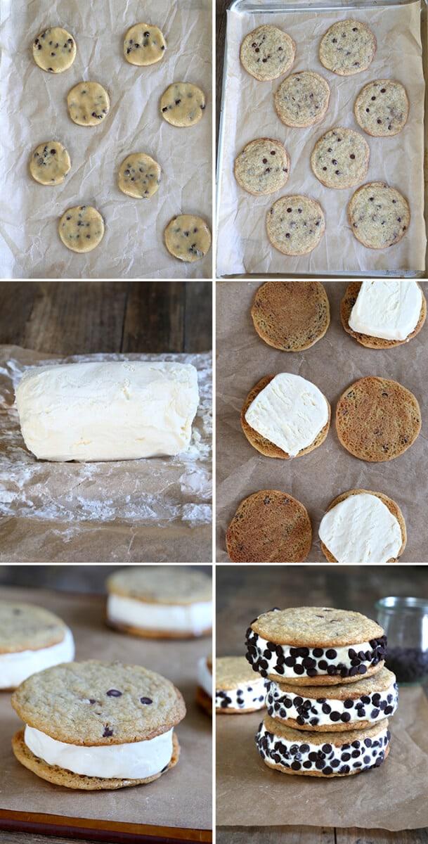 Gluten Free Chocolate Chip Ice Cream Sandwiches, Step by Step