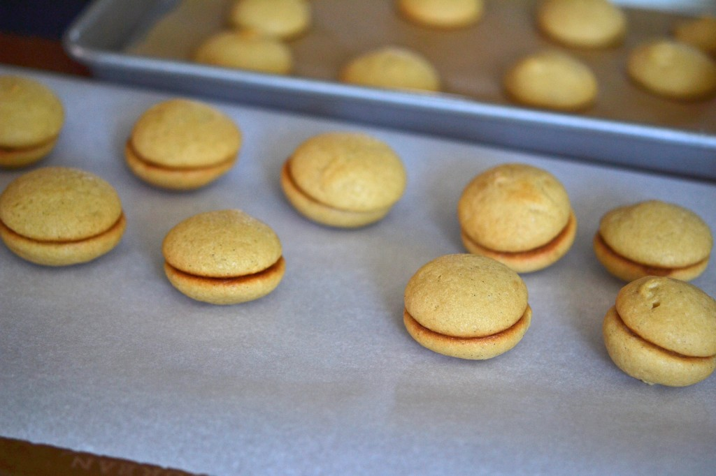 Whoopie pies on a tray