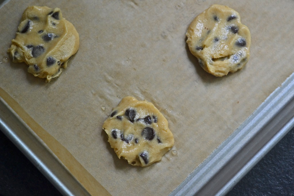 Cookie dough on beige surface