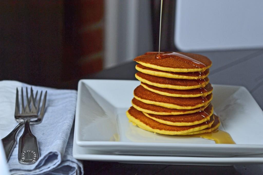 Gluten Free Cornmeal Pancakes