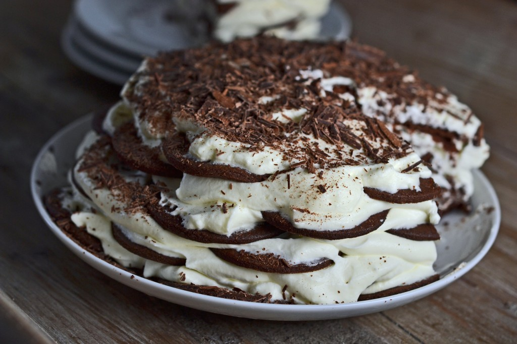 Cocoa Wafer Cookie Layer Cake Recipe