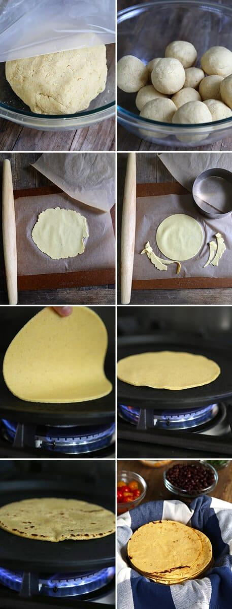 Fresh Gluten Free Corn Tortillas, Step by Step