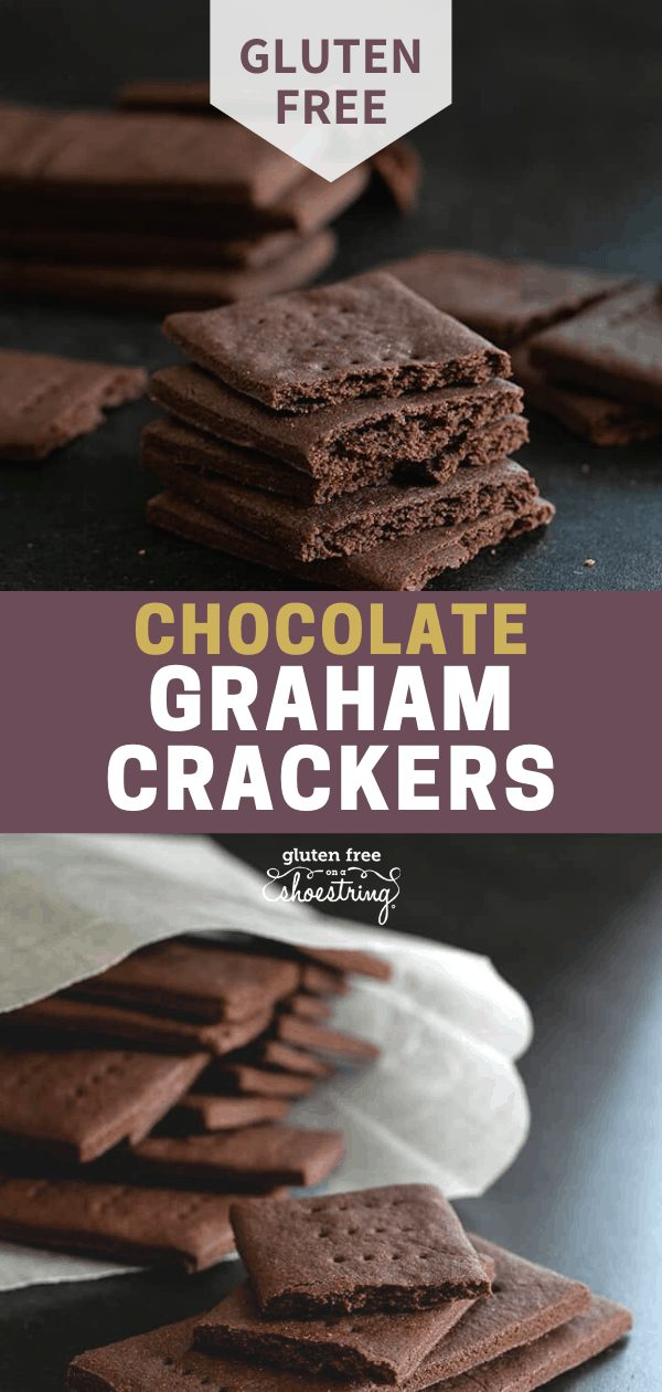 These gluten free chocolate graham crackers have a perfectly crisp texture and deep chocolate and honey flavor. They're better than any packaged cookie you can buy, and easy to make.