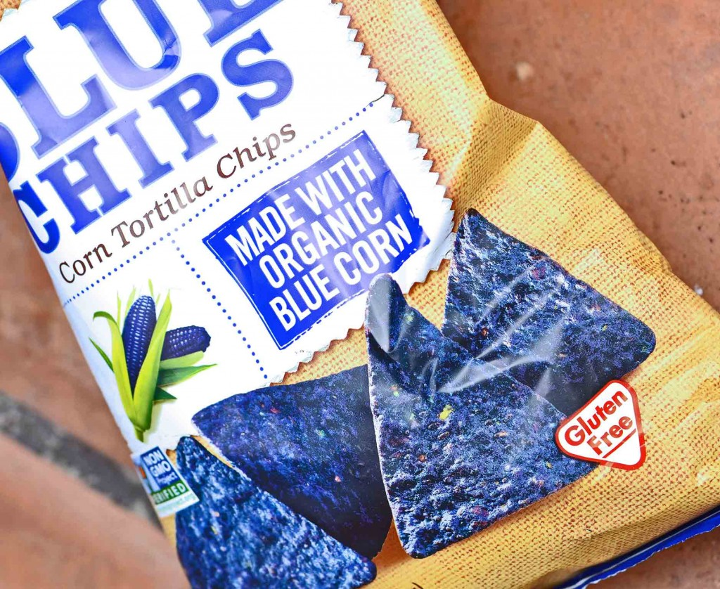 Blue tortilla chips package