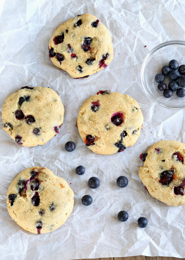Gluten Free Blueberry Cheesecake Cookies