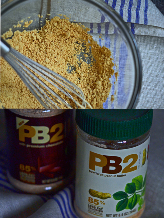 Powdered peanut butter in bowl