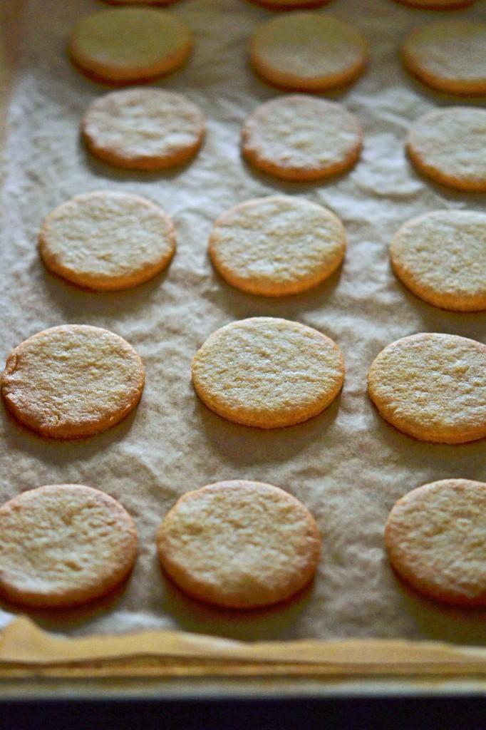 Cookies on beige surface