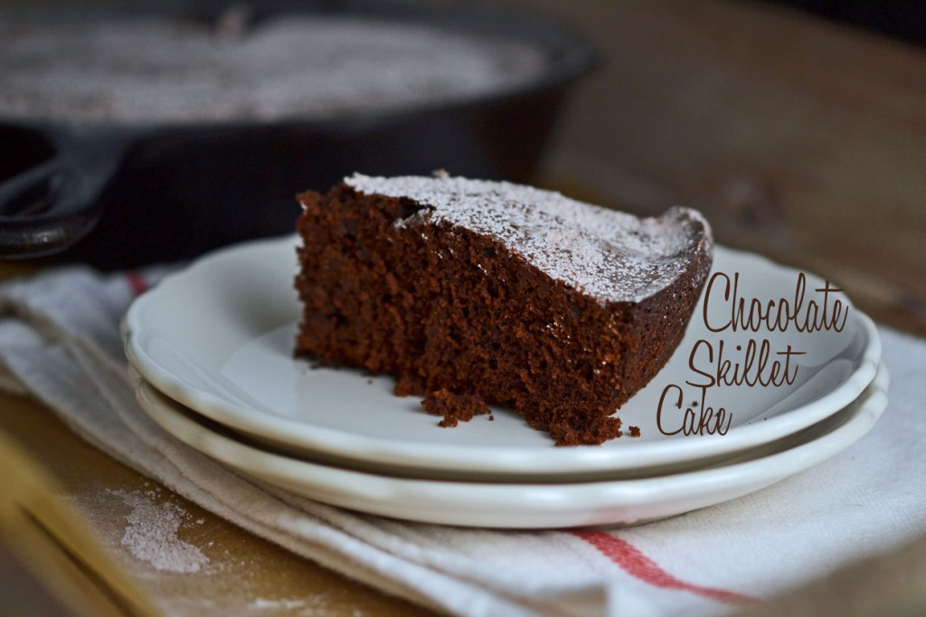 Bittersweet Chocolate Sour Cream Skillet Cake