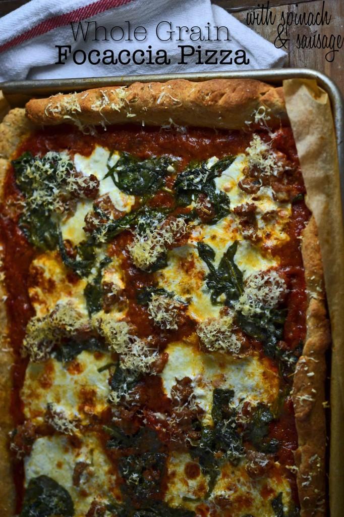 Whole Grain Focaccia Pizza: a make-ahead dinner