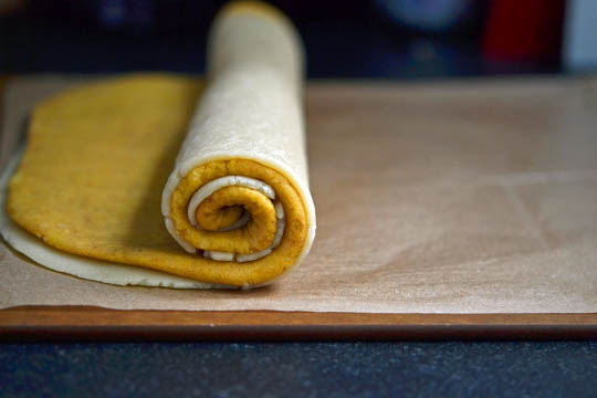 Rolled up cookie dough
