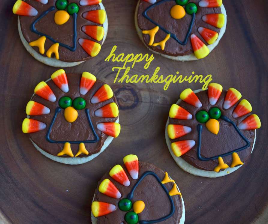Turkey Cookies for Thanksgiving: a step-by-step how-to