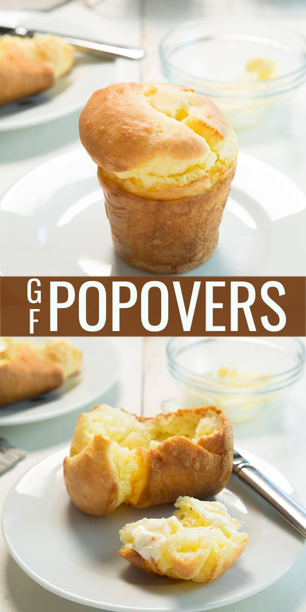 Popover on a white plate and inside of a popover on a white plate