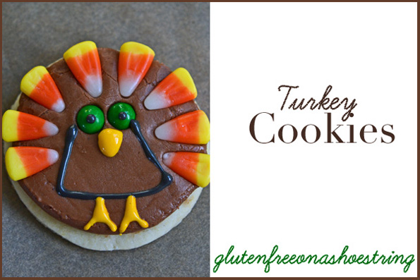 Close up of Cookies with turkey design