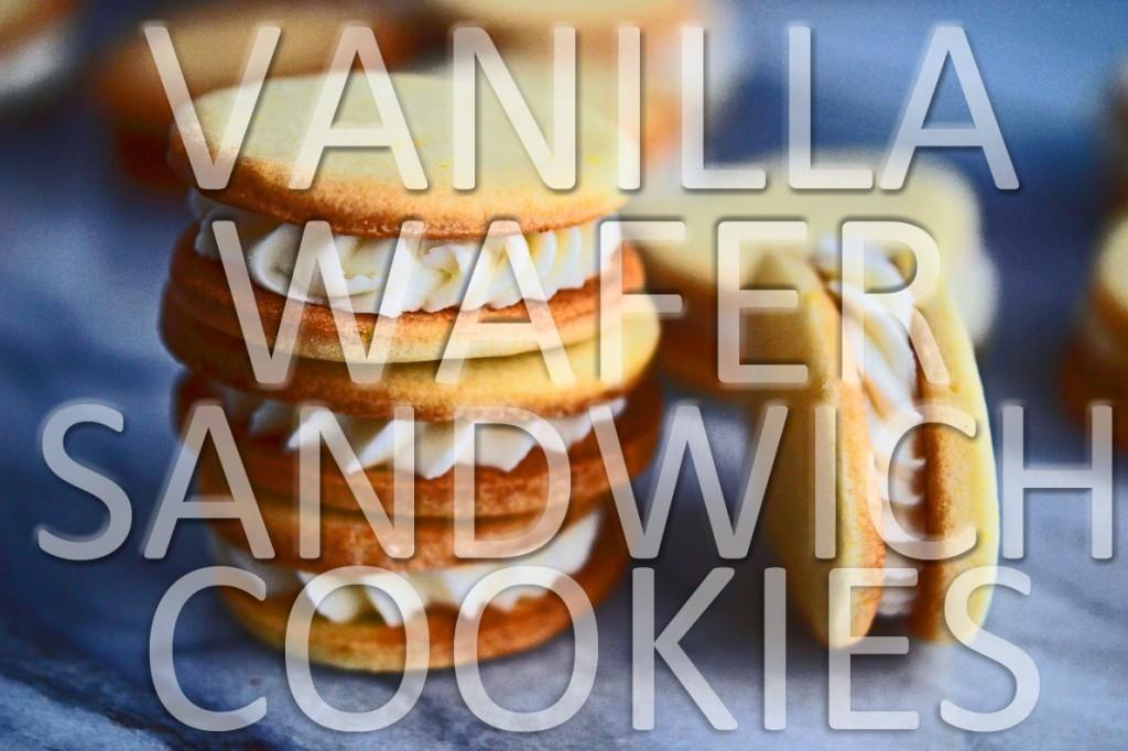 Stack of Vanilla Wafer Sandwich Cookies