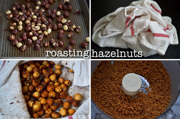 hazelnuts being grinded