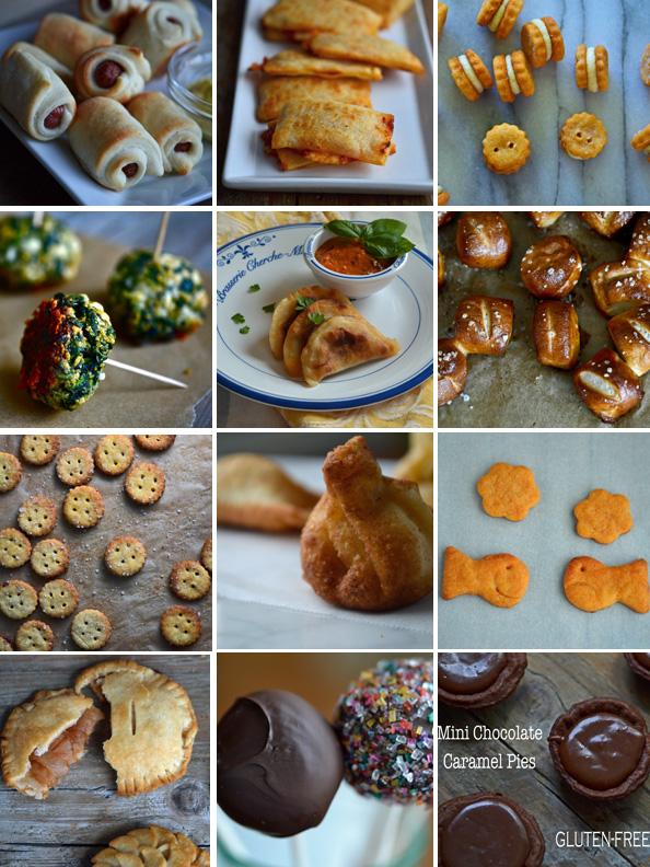 Series of super bowl snacks