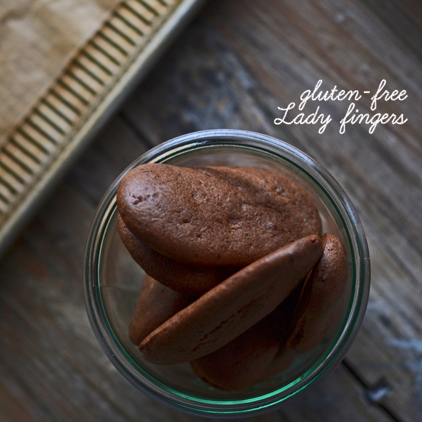 Chocolate Lady Fingers in a jar
