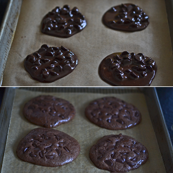 These flourless fudge cookies are made with egg whites, sugar, cocoa powder and chocolate chips. Crisp on the edges, and chewy inside. Packed with chocolate flavor!