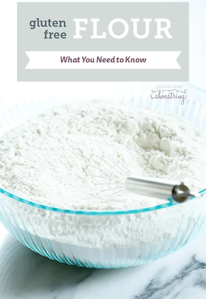 Everything you need to know about gluten free flour blends, including when and where to use them for best results in gluten free cooking and baking and my recommended blends. It's all here! https://glutenfreeonashoestring.com/all-purpose-gluten-free-flour-recipes/