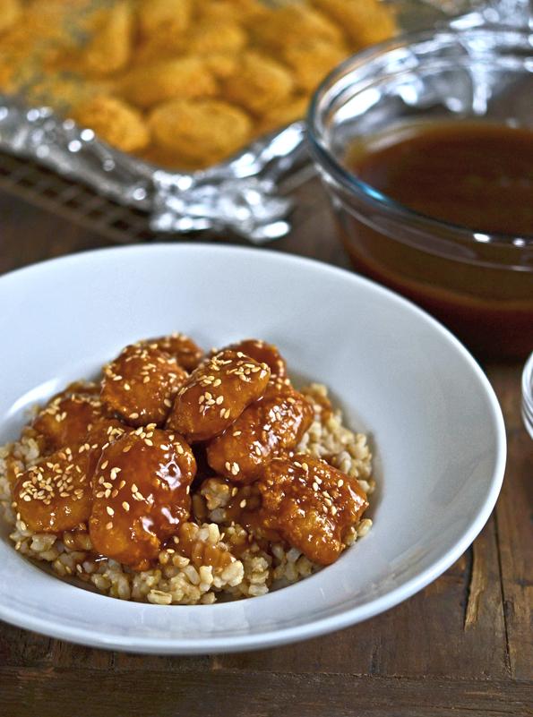 Baked Gluten Free Sesame Chicken