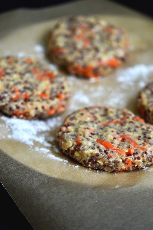 Gluten Free Quinoa Burgers on Gluten Free Hawaiian Buns
